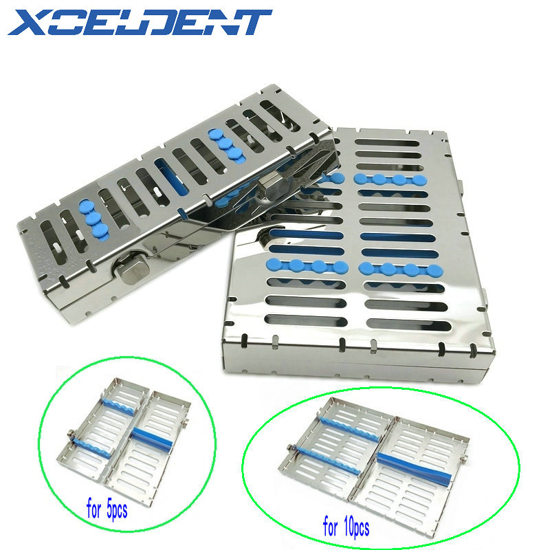Dental Sterilization Autoclave Cassette Tray Box Rack Clinic Rubber Linker Instrument Disinfection Holder For 5/10Pcs Surgical