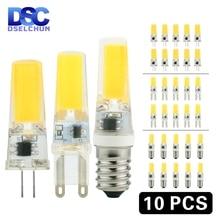 10pcs/lot LED G4 G9 E14 3W 6W Light Bulb AC/DC 12V 220V LED Lamp COB Spotlight Chandelier Lighting Replace 30W 60W Halogen Lamps зеркало evoform ledline 70х75 см с 2 мя встроенными led светильниками 10 5 w by 2116