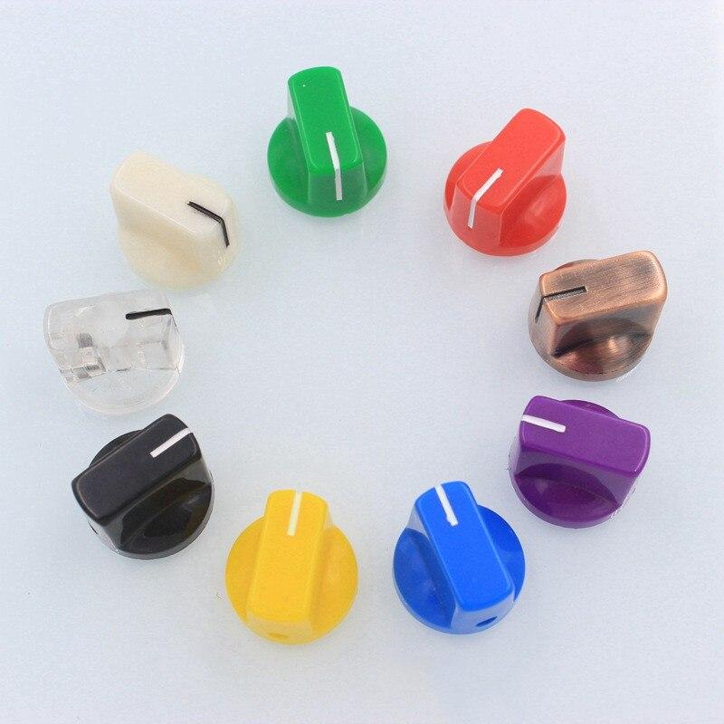 Amplificador de Guitarra Botões de Plástico Bico de Pato Interruptor de Botão de Controle de Volume do Potenciômetro Instruções de Áudio Amplificador Horizontal 9pcs Abs Cap