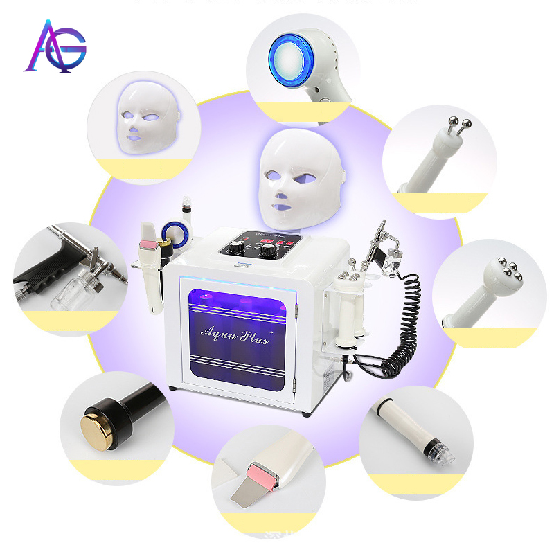 Adg  Wholesale 8 In 1 Small Bubble Beauty Machine For Skin Care And Facial Cleaning Machine