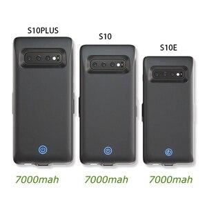 7000 мАч зарядное устройство чехол для Samsung Galaxy S10 S10e батарея чехол для Samsung S10 Plus назад клип быстрое зарядное устройство мобильный телефон