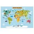Caixa de Mapa Do Mundo Cartaz Decoração Da Parede Tamanho Grande Mapa do Mundo de 140x92 mapa lona das Crianças À Prova D' Água decoração do quarto