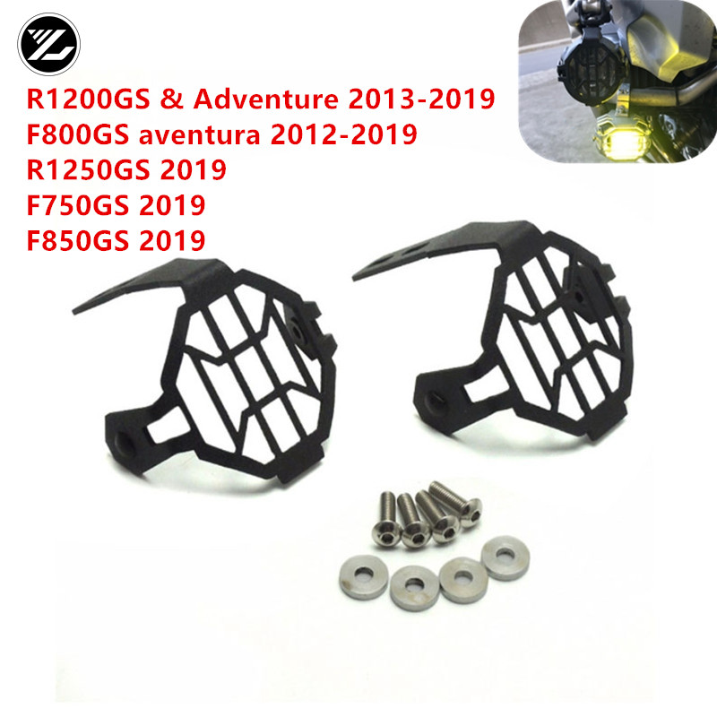For BMW R1200GS R1250GS/ADV LC <font><b>R1200RT</b></font> F750GS F850GS K51 K52 <font><b>LED</b></font> Auxiliary Fog Lamp Light Cover Guard Grill Grille Protector image