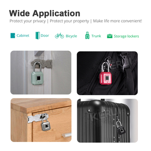 Image 4 - KERUI Smart Keyless Fingerprint Padlock Wireless Fingerprint Unlock USB Rechargeable Door Luggage Case lock