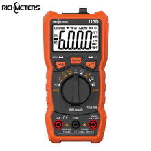 RICHMETERS RM113D NCV Digital Multimeter 6000 Zählt Auto Ranging AC/DC Spannung Meter Flash Back Licht Große Bildschirm 113A/D