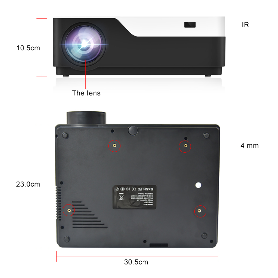 Image 4 - Everycom M18 Native 1920X1080 Real Full HD Projector Home Multimedia Video Game Projector Beamer (Optional Android WiFi AC3)-in LCD Projectors from Consumer Electronics