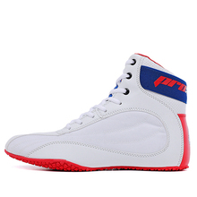 Men super quality boxing wrestling fighting weightlifting squat GYM shoes male cow-split leather training boxing fitness  shoes
