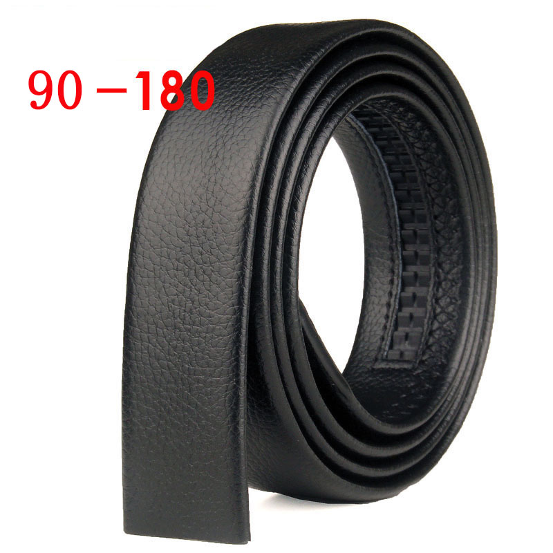 90 100 120 130 140 150 160 170 180cm Automatic Belt Without Buckle Men Width 3.7cm Wide No Buckle Good Quality Belt Body Strap