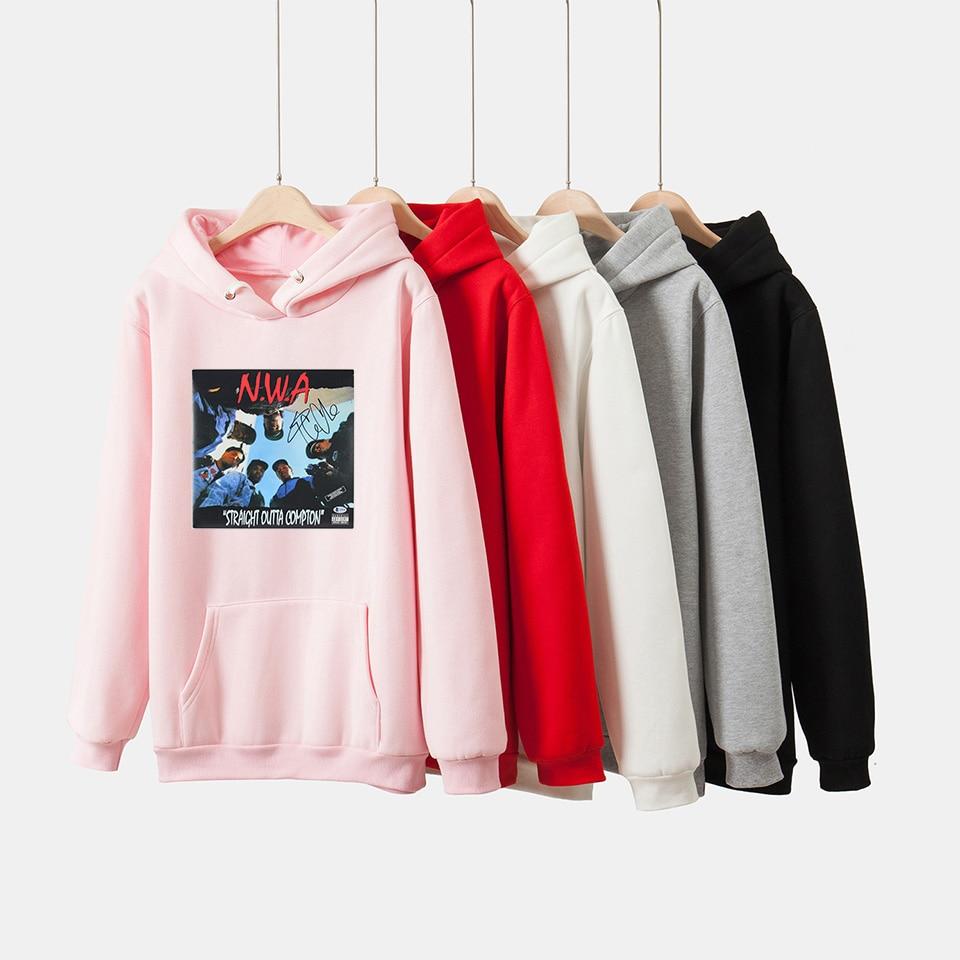 Hip hop NWA Straight Outta Compton hoodies Sweatshirts Men Women EAZY-E Rap Kawaii Cotton Pullover Unisex Costume Tracksuit