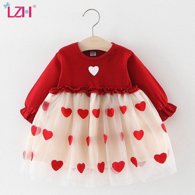 Outono inverno bebê manga longa tutu vestido de princesa para meninas do bebê 1 ano vestido de aniversário infantil vestido de festa de bebê recém-nascido roupas