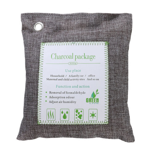 Large 200g Bags - Activated Bamboo Charcoal All Natural Air Freshener  Eco Friendly Odor Eliminator And Moisture Absorber
