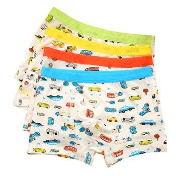 3Pc/Lot Random Colors Soft Breathable Boys Boxer Kids Underwear Underpants Modal for Children 2-8Y - discount item  18% OFF Children's Clothing