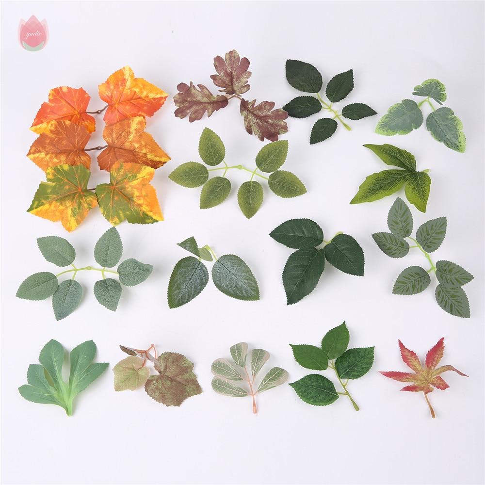 50 шт кленовые листья искусственные листья моделирование Хэллоуин осенними листьями для свадебного стола декор рукоделие искусственные цв...