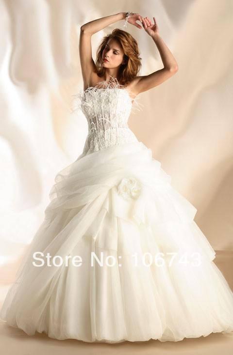 Vestido De Noiva Fashion 2018 Romance Vestidos Tulle Formal Feathers Elegant Bridal Ball Gown Lace Mother Of The Bride Dresses