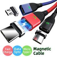 USB C Magnetische Kabel Micro Usbc Schnelle Ladekabel 1m 2m Handy Tablet Ladegerät Daten Lade für samsung Xiaomi magnet schnur