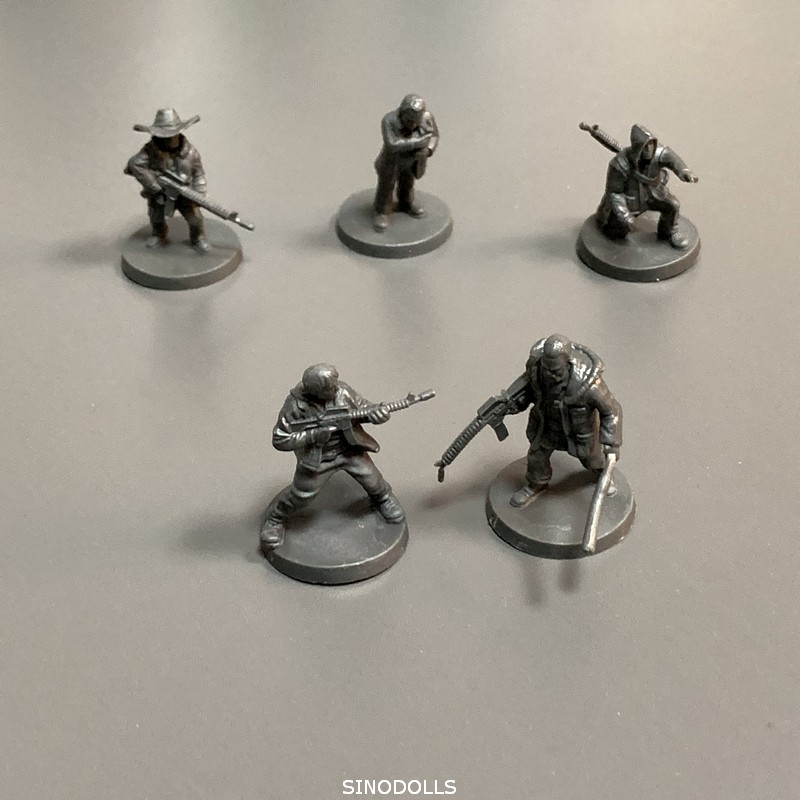 New 5pcs Heroes  Role Playing Miniatures DND Wars Board Game Figures Toys Collection