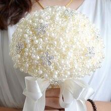 Свадебный букет из жемчуга и крема 8 цветов