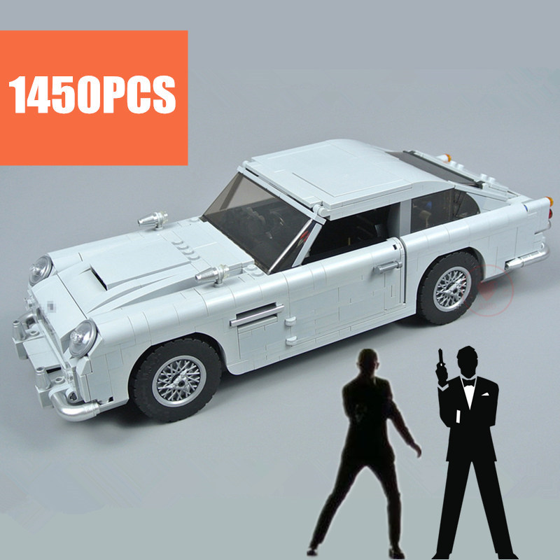 NEW Expert James Bond DB5 Fit Aston Technic City Creator Model Martin CAR 10262 Building Blocks Bricks Diy Toys Gifts Kid