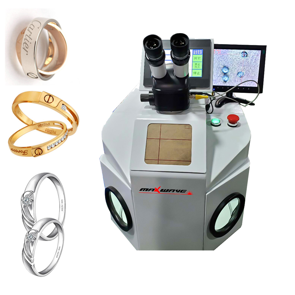 200W YAG jewelry laser welding machine for silver gold rings pendants denture with CCD system
