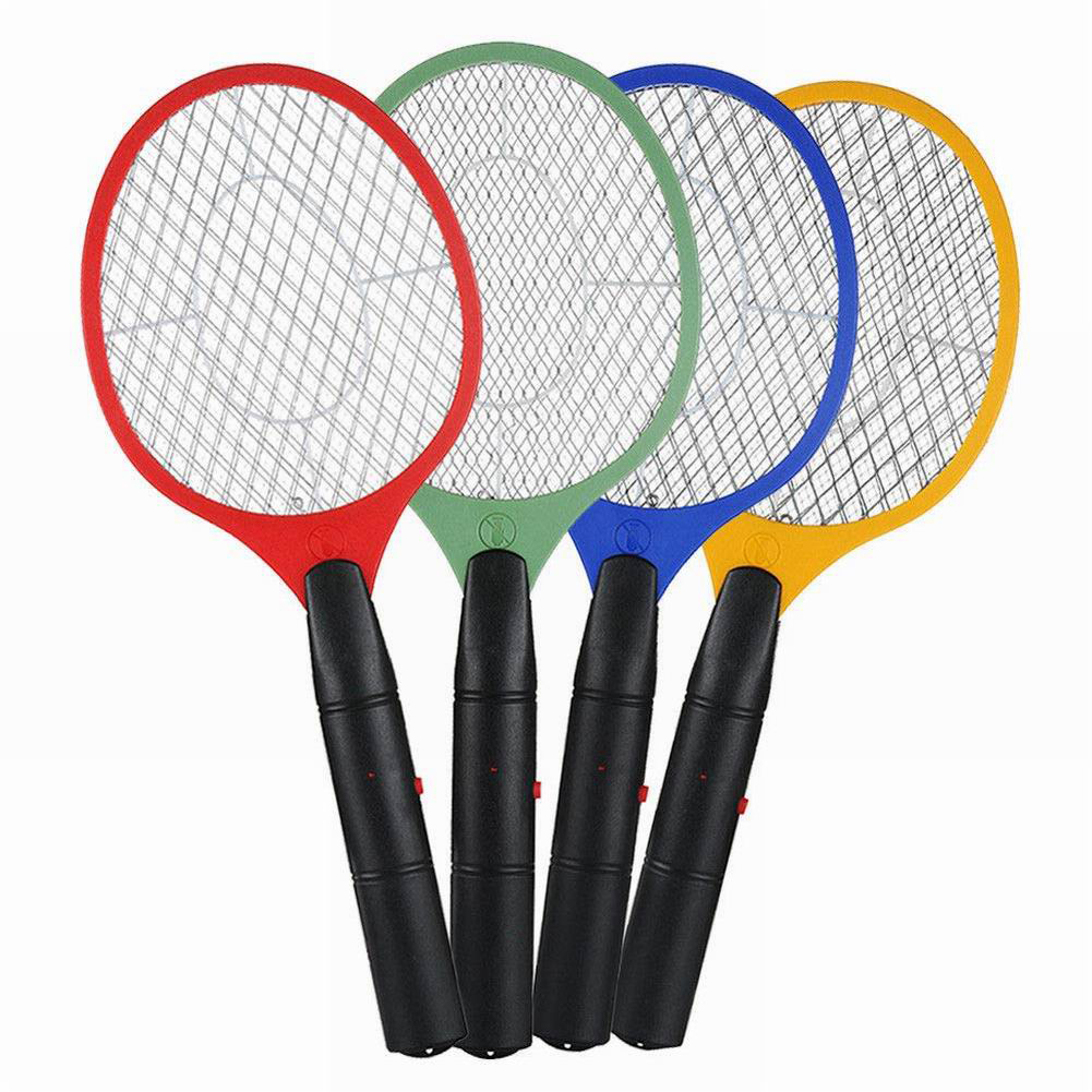 3 Layers Of Electric Mosquito Swatter Battery Electronic Handheld Racket Killer Fly Swatter Safety Net Mosquito Swatter|Bug Zappers| |  - title=
