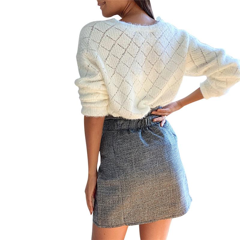 hirigin Women's Spring Autumn Lace Decor Buttoned V Neck Sweaters Long Sleeve Fashion Ladies Casual Streetwear Cardigan Knitwear