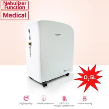 Portable Oxygen Concentrator Flow 5L With Nebulizer Ventilator Home Use Health Equipment Medical Respirator Oxygen Generator