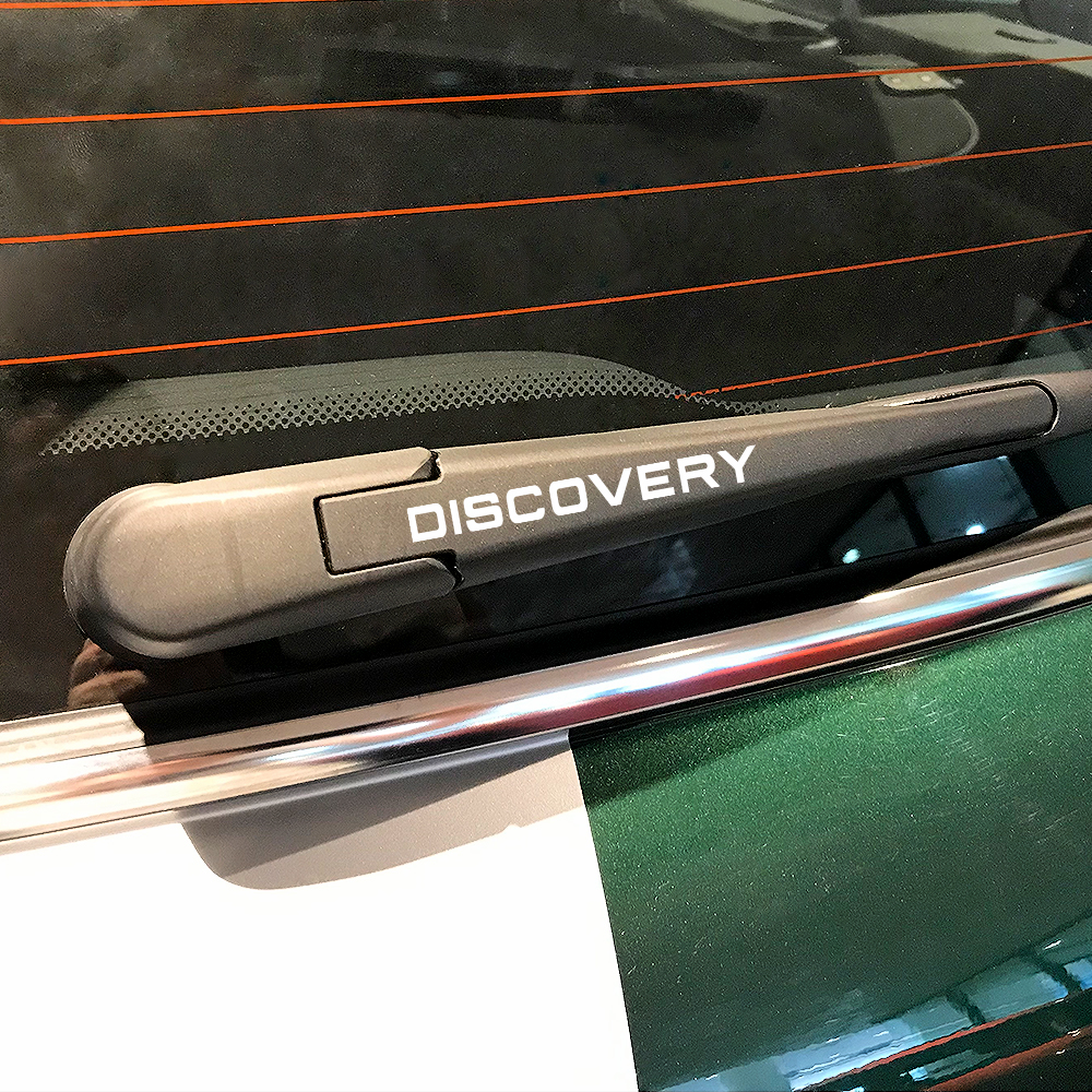 Image 3 - 4PCS Car Stickers Window Wiper PVC Decals For Land Rover Discovery 3 4 2 Freelander Evoque Velar Supercharged Autogiography SVR-in Car Stickers from Automobiles & Motorcycles