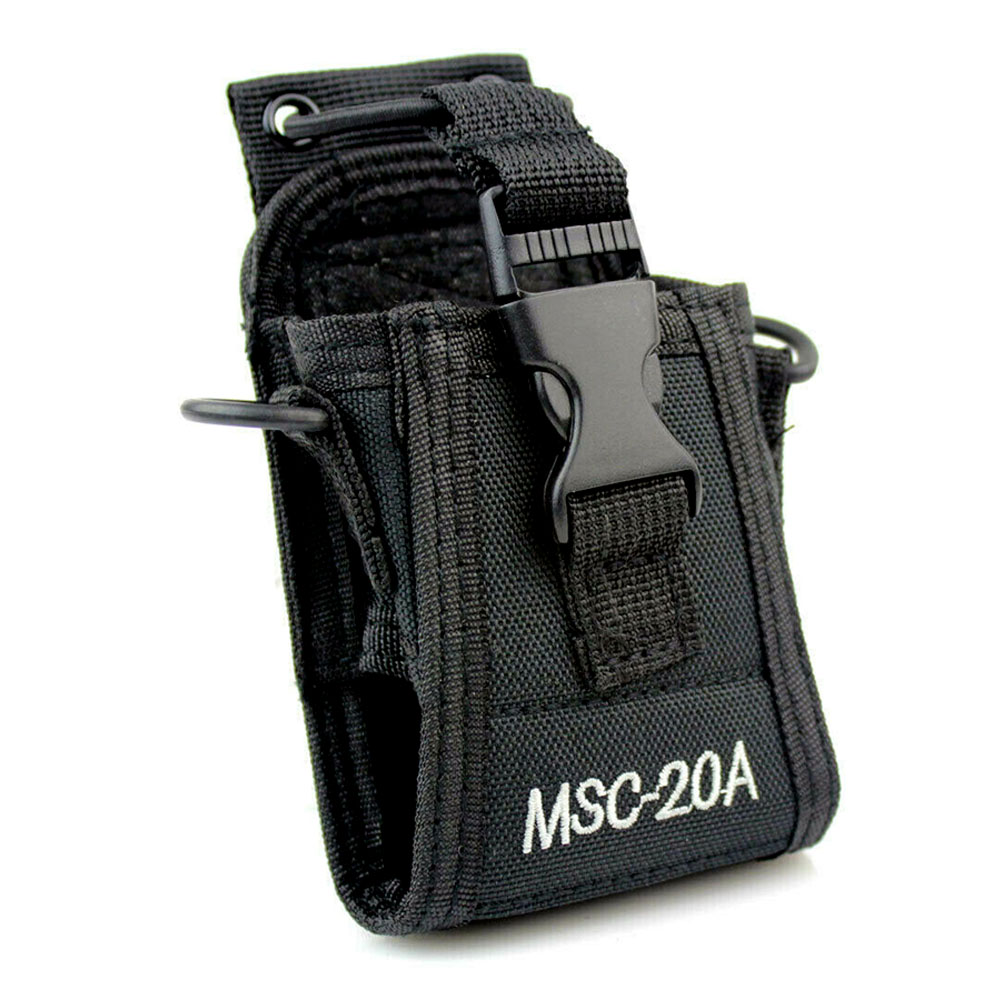 MCS20A Hands Free Police Fireman Solid Nylon Holster Portable Radio Case Holder Universal Pouch Walkie Talkie Shoulder Hanging