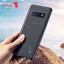X-Level Transparent Case For Samsung S10 Plus Hard Matte PC Soft Silicone Edge Back Phone Cover For Samsung Galaxy S10e Case S10