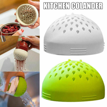 Food Grade Silicone Multi-use Portable Micro Kitchen Tools Colander Can Drainer Lid Fuss-free Cooking Cocina Accessories image