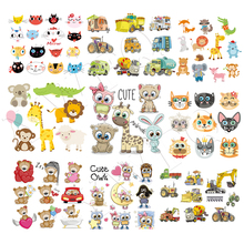Iron On Patches Cute Animal Set Diy Accessory Fashion Heat Transfer Stickers Clothes