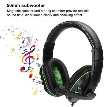Auriculares Binaural S1306 para juegos por cable con graves pesados, subwoofer verde de 50mm con almohadillas blandas omnidireccionales para micrófono
