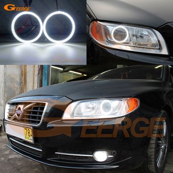 цена на Ultra bright smd led Angel Eyes kit DRL For Volvo S80 II 2007 2008 2009 2010 2011 2012 2013 2014 2015 2016 Xenon headlight