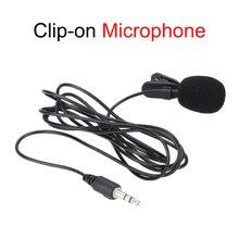 Mini micrófono portátil con Clip para teléfono, condensador Lavalier de Clip para teléfono, estudio de Audio, con cable para PC y portátil