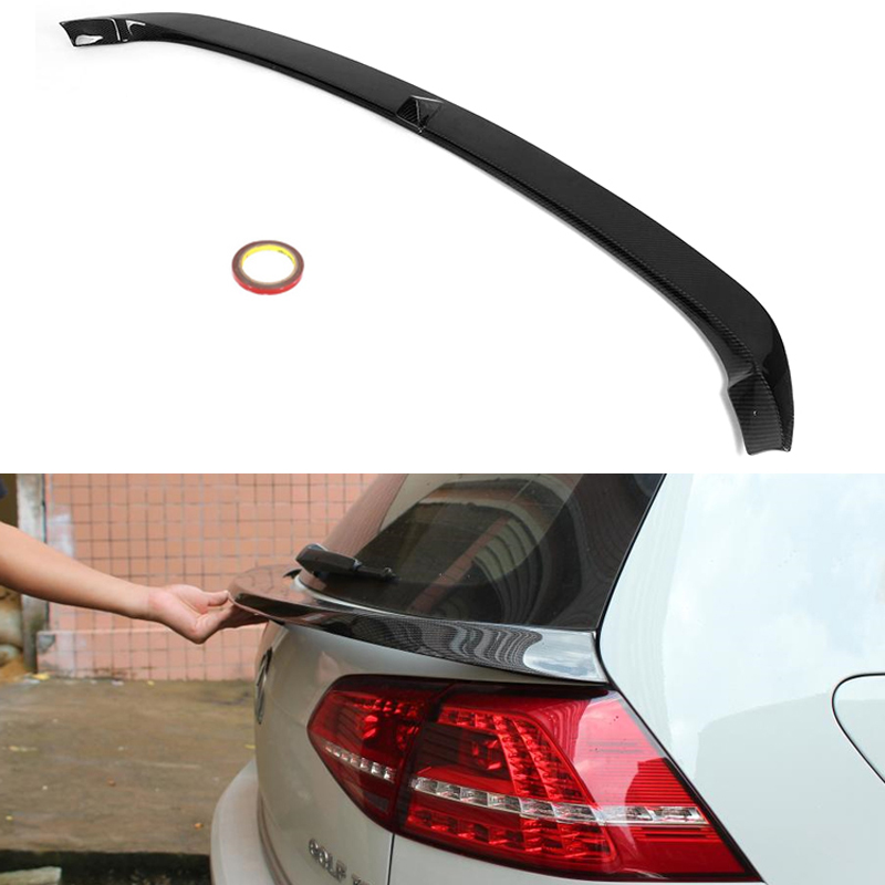 MK7 <font><b>R</b></font> Carbon Fiber Rear Roof Trunk Wing Spoiler for Volkswagen <font><b>Golf</b></font> 7 VII MK 7 <font><b>R</b></font> & <font><b>R</b></font>-Line & GT-i Model 2014 - <font><b>2018</b></font> image
