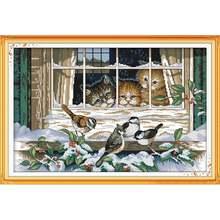 Набор для вышивки крестиком joy sunday с изображением пейзажа