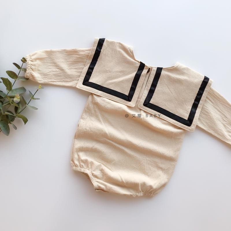 2019 Fall Baby Boy Girl Navy Style Long Sleeve   Rompers   Lovely Korean Baby Oneise Toddler Boy Outfit Quality Clothes For bebe