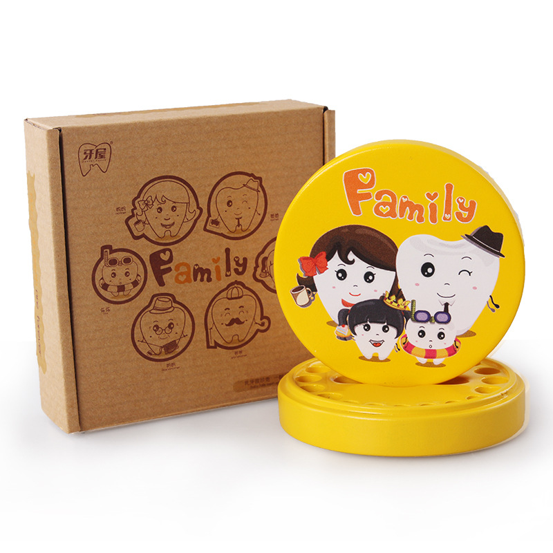Tooth storage box wooden crafts baby tooth box baby fetal hair storage box creative birthday gift souvenir wholesale