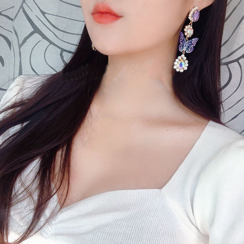 Купить женские корейские серьги бабочки mengjiqiao элегантные вечерние