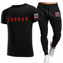 New Jogger Jogging Fitness Clothing Men Running Sets T-Shirt+Pants Two-Piece Set Fashion Men Clothes Sports Suit Male Sportswear