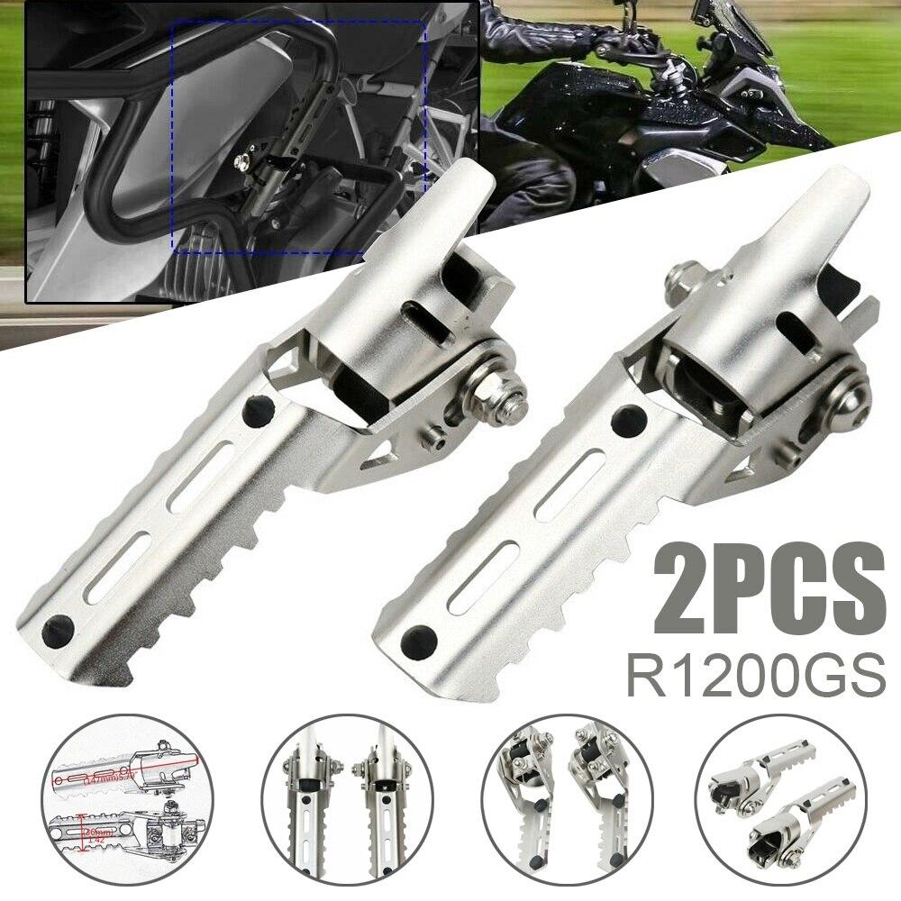 Motorcycle Front Footpegs 1 Pair Stainless Steel Motorcycle Front Footrest Foot Pegs For BMW R1200GS 2013 2014 2015 2016 2017