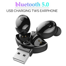XG17 TWS Wireless Earphones bluetooth 5.0 USB Charging Stereo Auto Pairing Sports Waterproof Mini Earbuds Headset with Mic(China)