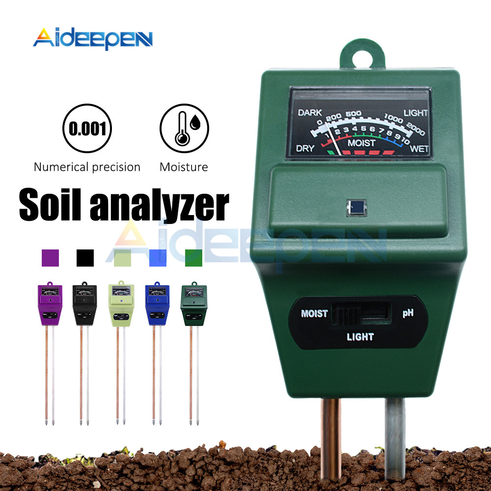 3 IN 1 Digital Soil Tester Moisture Sunlight PH Meter Tester For Plants Flowers Acidity Moisture Measurement Garden Tools