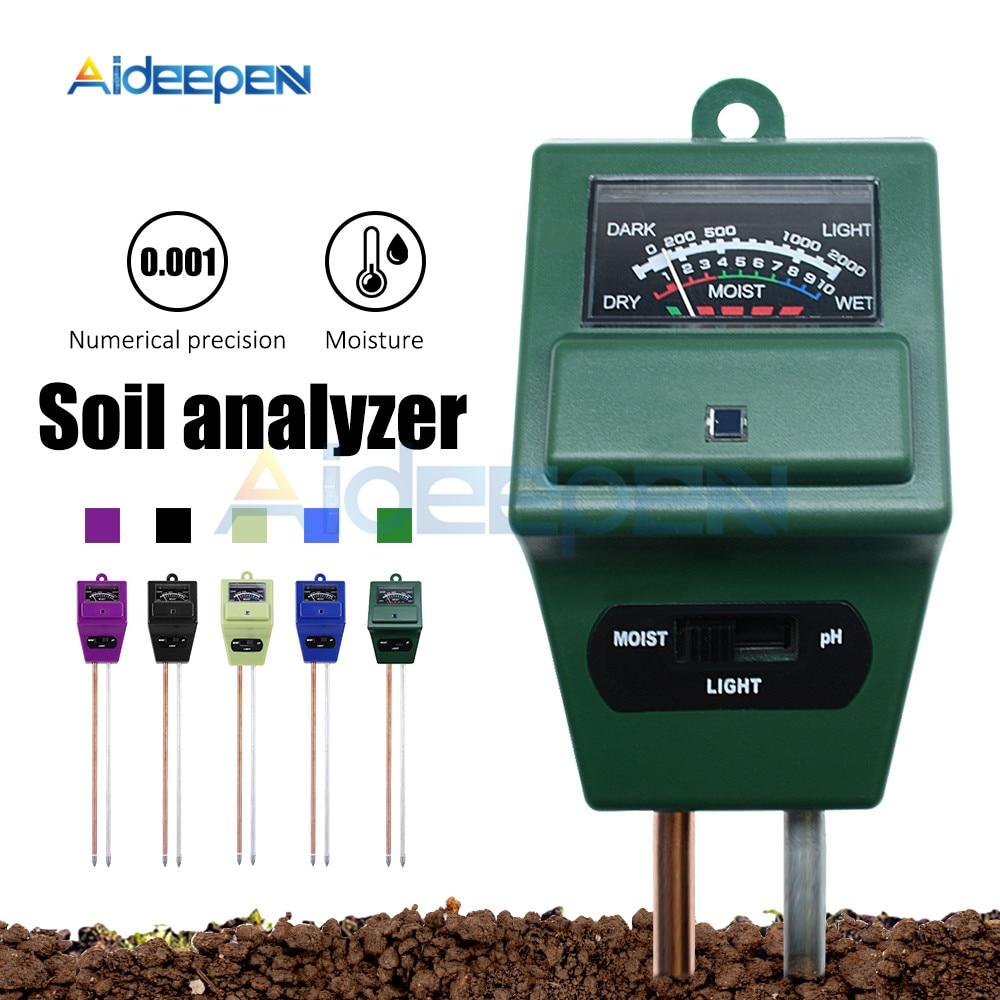 3 IN 1 Digital Soil Tester Moisture Sunlight PH Meter Tester For Plants Flowers Acidity Moisture Measurement Garden Tools