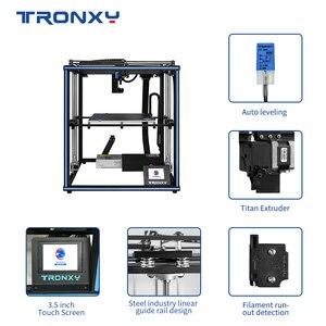 Image 3 - Tronxy X5SA برو محرك هادئ طابعة ثلاثية الأبعاد OSG مزدوجة المحور دليل خارجي السكك الحديدية سطح المكتب لتقوم بها بنفسك أطقم تيتان الطارد الطباعة خيوط تي بي يو
