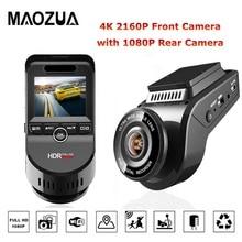 Telecamera frontale a 2 pollici per visione notturna Dash Cam 4K 2160P per auto DVR con videocamera posteriore per auto 1080P supporto Video GPS/WIFI telecamera per auto