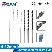 Gun Drill-Bit Woodworking XCAN Extra-Long 300mm Hole-Cutter 4-12mm 7pcs High-Carbon-Steel