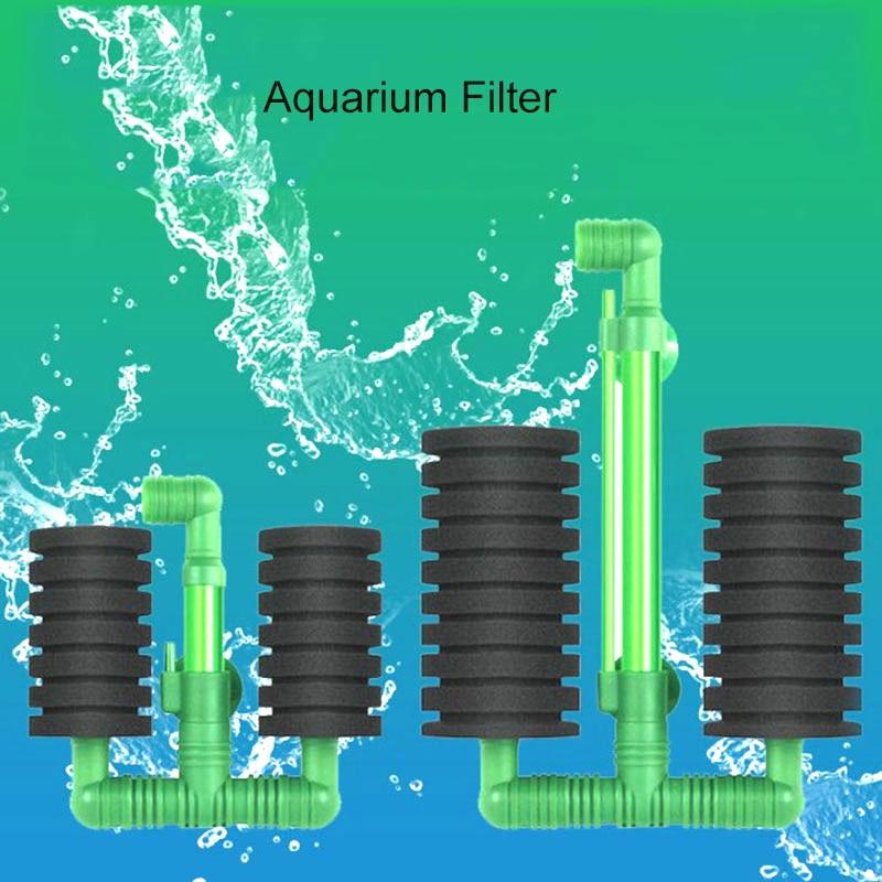 Aquarium Fish Tank Filter Air Pump Skimmer Biochemical Sponge Filter New Green Bio Sponge Filtro Aquario High Quality