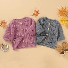 Coats Jackets Sweater Baby-Girl Newborn Winter Infant Lioraitiin Solid 0-24M 3dautumn