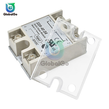 цена на 10pcs/Lot DC AC SSR Protection Plastic Cover for SSR DC-DC AC-AC DC-AC Solid State Relay Front Cover SSR -10DA/25DA/ 40DA